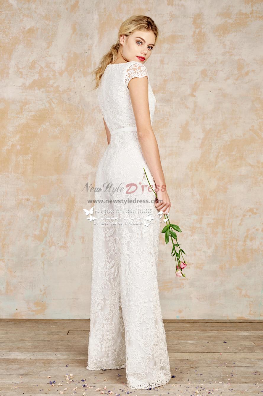 bb3c6a055479 Lace bridal jumpsuits full length wedding dresses wps-067 - Wedding ...