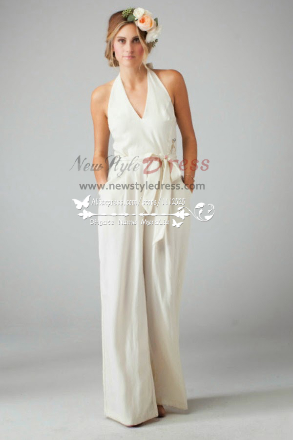 Lovely Lace Bridal Jumpsuit Dress Sposa Pantaloni Wps 013