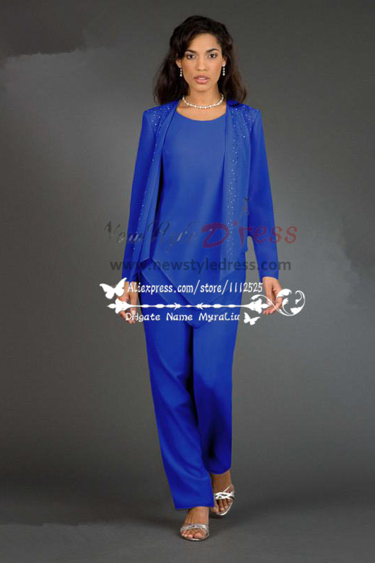 hand beading elegant elastic pants mother of the bride