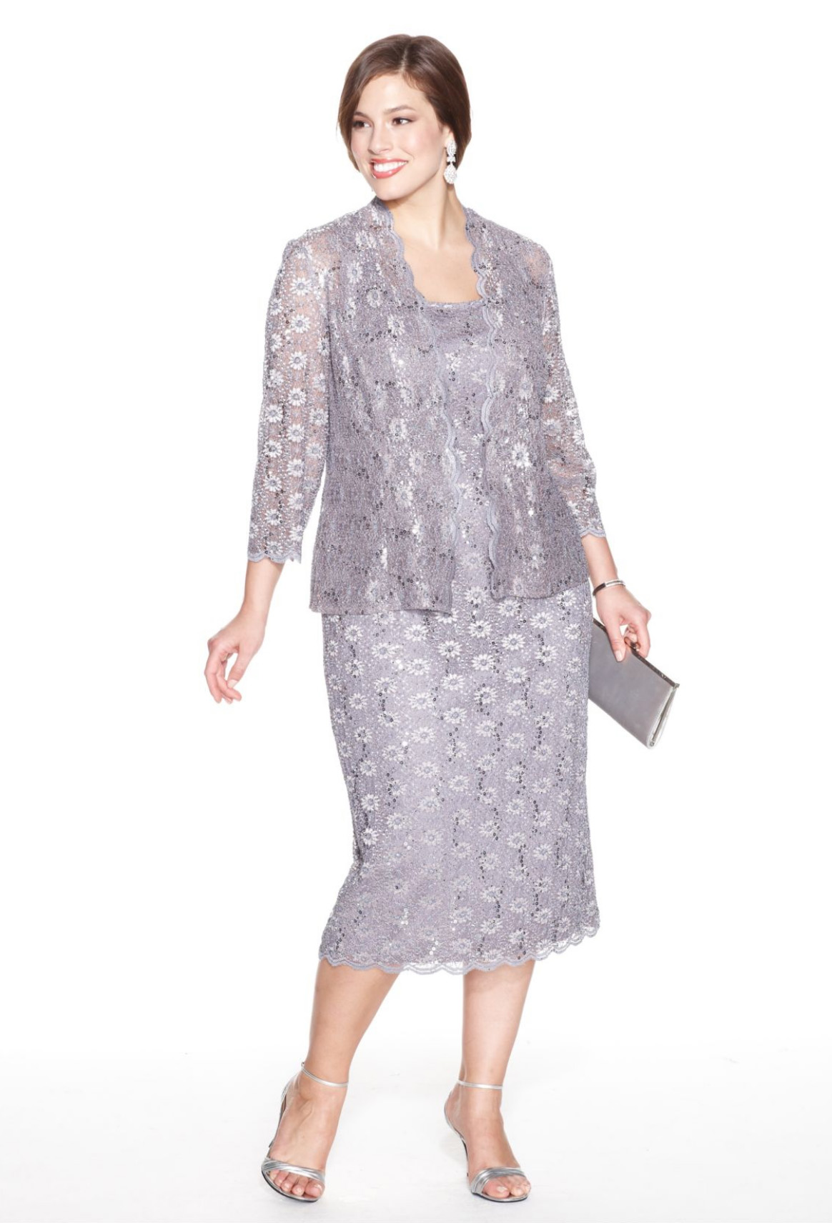 Plus Size Elegant Latest Fashion Lace Mother Of The Bride