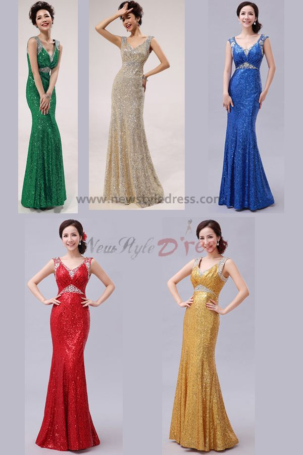 red silver gold royal blue green 2014 new arrival sheath