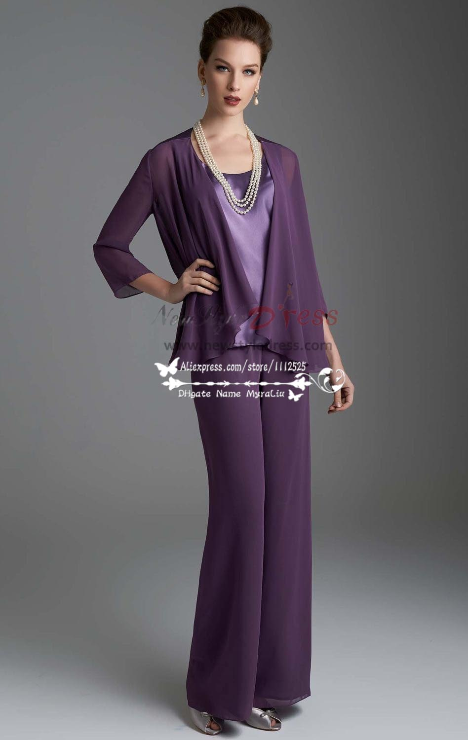 Purple Woman Suits Dress