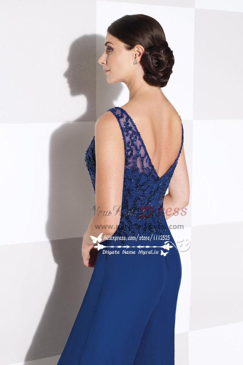 Women S Delicate Royal Blue Chiffon Wedding Party Dress