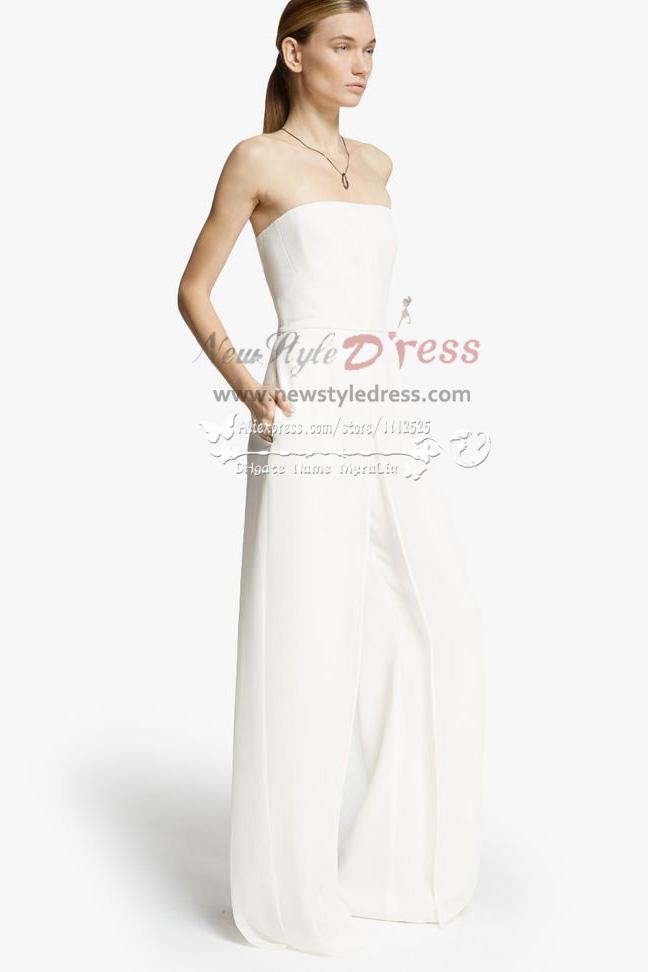 Simple pant suit wedding dress wps 014 wedding pant suits for Dress pant suits for weddings